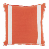Spice Linen With Oyster Linen Inset Pillow 20 X 20 In