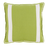 Lime Linen With Oyster Linen Inset Pillow 20 X 20 In