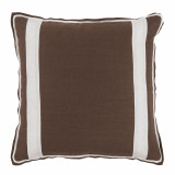 Mud Linen With Oyster Linen Inset Pillow 20 X 20 In