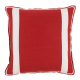 Red Oak Linen With Oyster Linen Inset Pillow 20 X 20 In