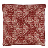 Havana Garnet With Carmine Gusset & Flange Pillow 22 X 22 X 2 In