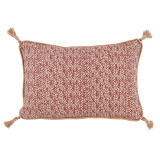 Palma Garnet Lumbar Withjute Tassels Pillow 13 X 19 In