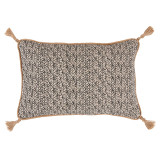 Palma Granite Lumbar With Jute Tassels Pillow 13 X 19 In