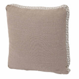 Natural Linen With Natural Florence Tape Gusset Pillow 18 X 18 X 2 In
