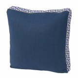 Navy Linen With Navy Florence Tape Gusset Pillow 18 X 18 X 2 In