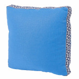 Royal Blue Linen With Navy Florence Tape Gusset Pillow 18 X 18 X 2 In