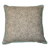 Cub Fossil With Aqua Flange Pillow 20 X 20 In
