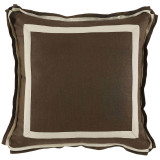 Mud Linen 20 X 20 Pillow with Natural Twill Tape