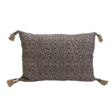 Priya Currant 13 X 19 Pillow with Tassels Solid Danish Linen Back