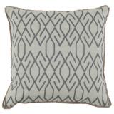 Zoe Zinc 20×20 Pillow with Eyelash Trim