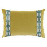 Quince Velvet With Amalfi Glass Tape Lumbar Pillow 13 X 19 In