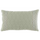 Quilted Spa Linen 13×22 Lumbar Pillow with Spa Florence Tape