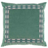 Viridian Velvet With Amalfi Glass Tape Pillow 22 X 22 In