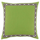 Lime Linen 24×24 Pillow with Fossil on Off White Camden Tape