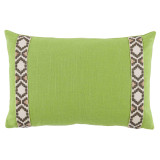 Lime Linen 13×19 Pillow with Fossil on Off White Camden Tape