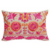 Mulberry Floral Embroidery 13×19 Lumbar Pillow