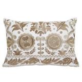 Bisque Floral Embroidery 13×19 Lumbar Pillow