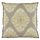 Malta Spring With Trevi Spring Gusset & Mud Linen Flange Pillow 24 X 24 X 2 In