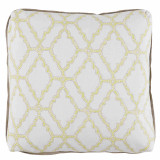 Kai Spring 24×24 Pillow with Natural Linen Flange and Turkish Corners