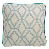 Kai Capri 24×24 Pillow with Plasma Linen Flange and Turkish Corners
