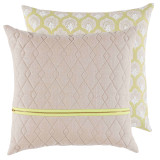 Sand Quilted Linen 20×20 Pillow with Spring Brass Zipper and Isla Spring Back