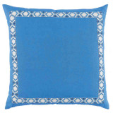 Royal Linen With Camden Tape Regatta On White Pillow 24 X 24 In