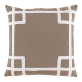 Rio Taupe With White Tape Outdoor Pillow 20 X 20 In