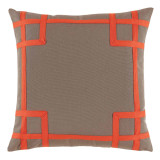 Rio Taupe With Melon Tape Outdoor Pillow 20 X 20 In