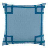 Rio Tidal With Teal Tape Outdoor Pillow 20 X 20 In
