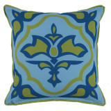 Lagos Ginko With Ginko Flange Outdoor Pillow 20 X 20 In