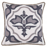 Lagos Taupe With Taupe Flange Outdoor Pillow 20 X 20 In