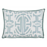 Kyoto Surf With Spa Flange Lumbar Outdoor Pillow 13 X 19 In