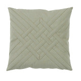 Veranda Celadon Interlaced Outdoor Pillow 20 X 20 In