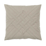 Veranda Bone Interlaced Outdoor Pillow 20 X 20 In
