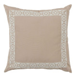 Como Camel Tape On Almond Outdoor Pillow 22 X 22 In