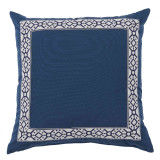 Como Navy Tape On Harbor Outdoor Pillow 22 X 22 In