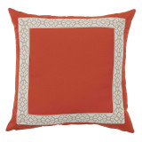 Como Camel Tape On Melon Outdoor Pillow 22 X 22 In