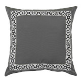 Como Black Tape On Pewter Outdoor Pillow 22 X 22 In