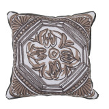 Tile Camel Reversible With Pewter Flange Outdoor Pillow 20 X 20 In