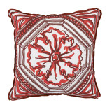 Tile Clay Reversible With Clay Flange Outdoor Pillow 20 X 20 In