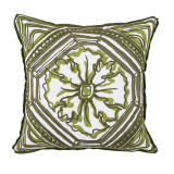 Tile Elm Reversible With Elm Flange Outdoor Pillow 20 X 20 In