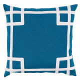 Rio Azure With White Tape Outdoor Pillow 20 X 20 In