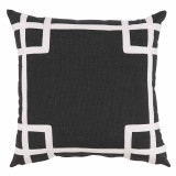 Rio Carbon With White Tape Outdoor Pillow 20 X 20 In