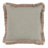 Oasis With Sand Flange & Outdoor Fringe Outdoor Pillow 20 X 20 In