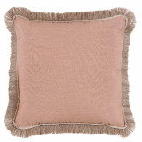 Petal With Sand Flange & Outdoor Fringe Outdoor Pillow 20 X 20 In