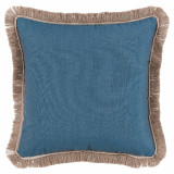 Lagoon With Sand Flange & Outdoor Fringe Outdoor Pillow 20 X 20 In