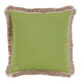 Ginko With Sand Flange & Outdoor Fringe Outdoor Pillow 20 X 20 In