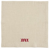 Kila Siku Napkin 19.5x19.5 in. Stockings Red