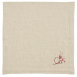 Kila Siku Napkin 19.5x19.5 in. Winter Wonderland Red