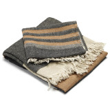 Belgian Towel Fouta Black Stripe
